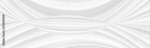 Graphic symmetrical pattern for wallpaper and packaging for various purposes. The background is gray and white with a gradient texture of stripes, lines, waves and geometric shapes. © Nadezhda Pakhomоva