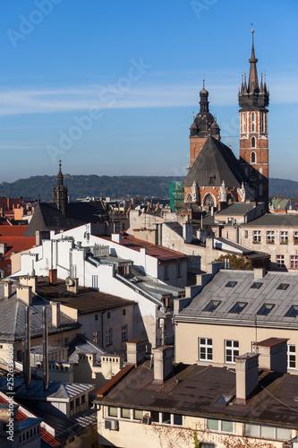 obraz PCV Krakow Cityscape