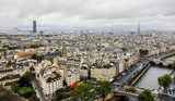Fototapeta Paryż - Panorama of Paris, France  © sforzza