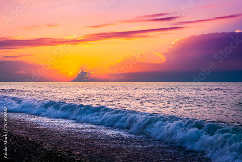 obraz PCV Sunset over the sea