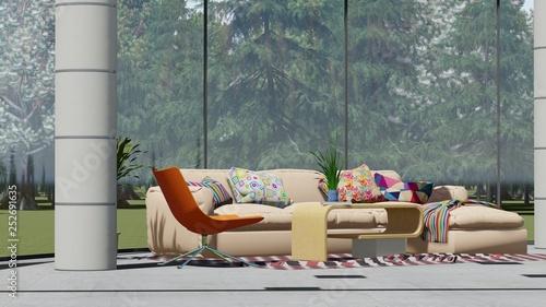 Modern looking interior  - 252691635