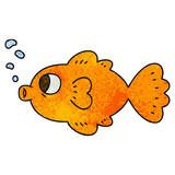 quirky hand drawn cartoon fish