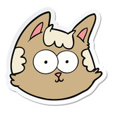 sticker of a cartoon cat face