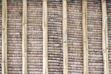 close up of bamboo wall texture for background