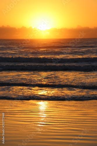 obraz PCV Sunset orange glow