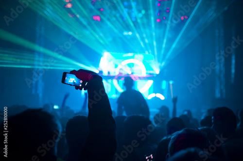 Musikverananstaltung mit Lichtshow