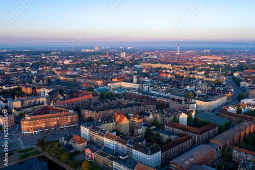 Aerial photo of Frederiksberg, Copenhagen, Denmark