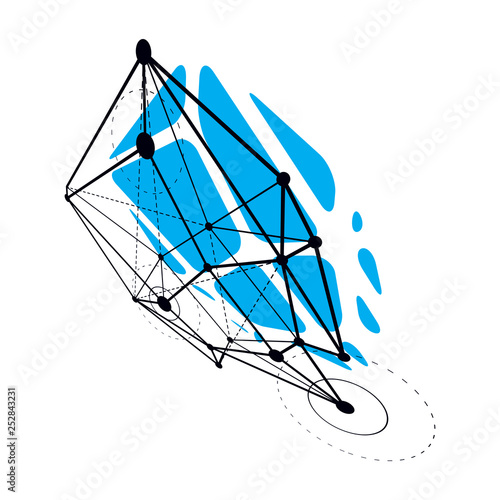 Abstract vector construction, dimensional low poly design background. Innovation technologies abstract illustration.