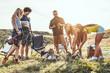 Leinwandbild Motiv Camping Time!