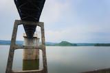 Lake water level meter bridge