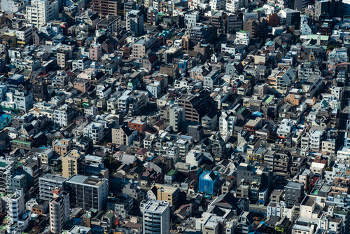 mata magnetyczna Tokyo high dense houses and buildings