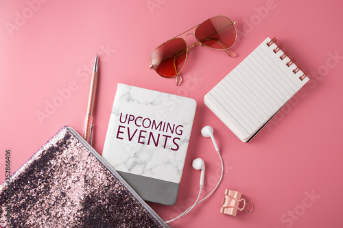 Upcoming events with pink fashion accessories - 252866406