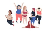 Women of different size and body proportions. - 252869036