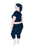 Beautiful plus size woman - 252869045