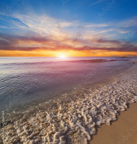 Sunset over sea - 252869284
