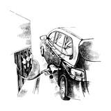 Refueling gasoline fuel - 252869425