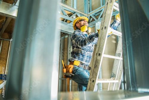 Steel Building Construction Job