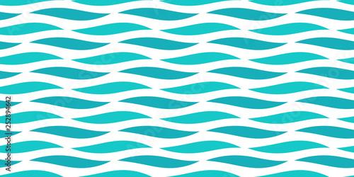 Water sea waves seamless pattern.