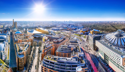 panoramic view at the potsdamer platz, berlin © frank peters