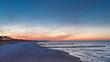 Leinwanddruck Bild - Spektakulärer Sonnenuntergang an der Ostsee bei Zingst