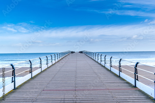 Pier over the blue sky © Clough Photography