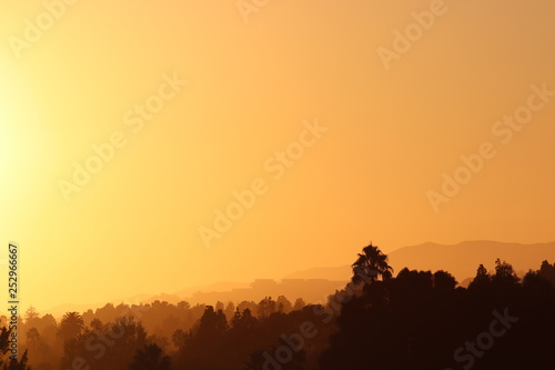 obraz PCV LA skyline at sunset