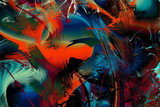 Abstract Modern Art background. Paint in Motion on the subject of creativity, imagination and energy of life. - 253001019