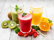 Leinwanddruck Bild - Healthy fruit smoothies