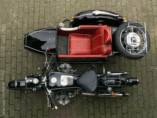 obraz lub plakat Motorrad Oldtimer Gespann BMW