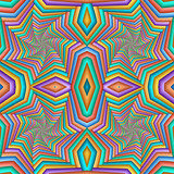Multicolor Seamless abstract festive pastel pattern. Tiled ethnic pattern. Geometric mosaic. Great for tapestry, carpet, blanket, bedspread, fabric, ceramic tiles, stained glass window, wallpapers - 253005421