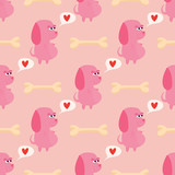 cute seamless pattern with dogs