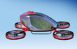 Leinwandbild Motiv Electric Passenger Drone flying in the sky