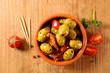 green olive, snack - antipasto