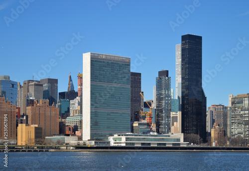 obraz lub plakat United Nations Building.