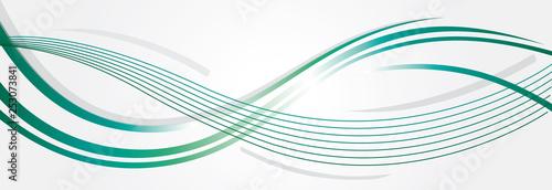 COURBES BLEUES-VERTES - 253073841