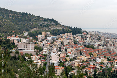 Panoramic view to city of Kavala, East Macedonia and Thrace, Greece - 253074617