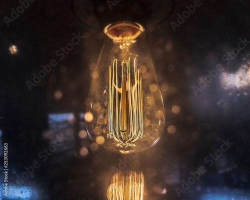 Leinwanddruck Bild LED Filament Light Bulb