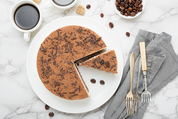 Tiramisu - Classical dessert with mascarpone and coffee