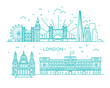 Linear banner of London city