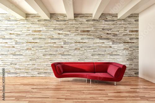 Leinwanddruck Bild large luxury modern bright interiors room illustration 3D rendering