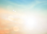 Summer holiday concept Abstract blurry morning autumn sunrise sky background