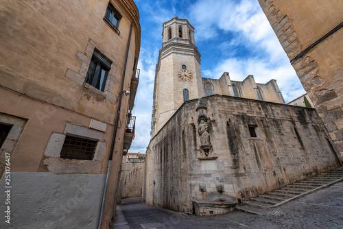 Leinwanddruck Bild Girona Cathedral View