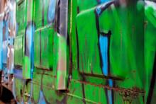 """Постер, картина, фотообои """"Graffiti on boxcar"""""""