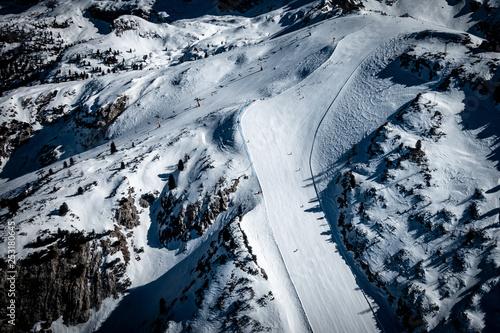 obraz lub plakat Dolomiti ampezzane e piste di sci