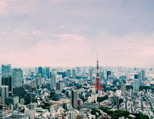 Tokyo cityscape under beautiful clear sky : Tokyo , Japan - 253184432