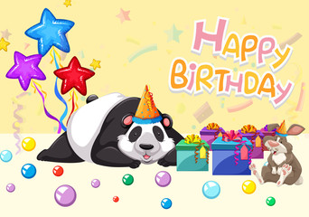 happy birthday panda card