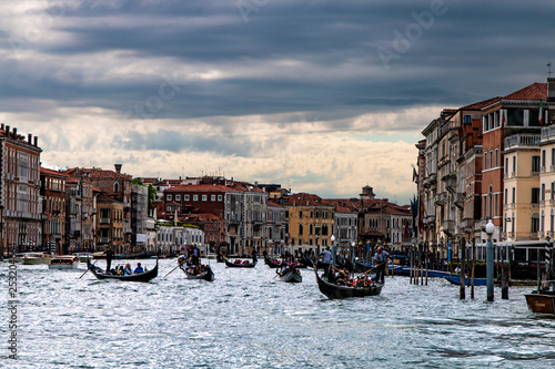 obraz lub plakat The bustling water city of Venice, Italy