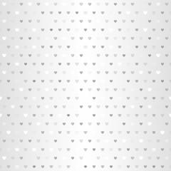 Silver heart pattern. Seamless vector