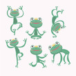 Cartoon Vector of Green frog.