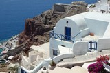 Beautiful panoramic view from Oia over the cliff